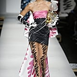 """Kendall in Her Moschino Finale """"Scribble Gown"""""""