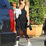 Goldie Hawn wore workout clothes to lunch.