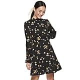 POPSUGAR Print Ruffle Mockneck Mini Dress