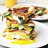 Breakfast Grilled Cheese With Basil and Jam