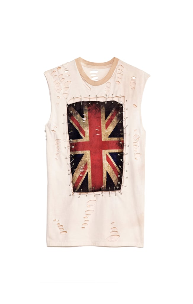 Any Old Iron Union Jack Safety Pin Tee ($100)