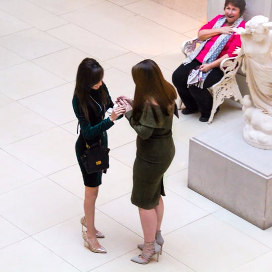 Woman's Reaction to Woman Proposing to Her Girlfriend