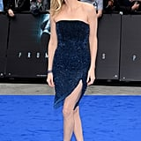Charlize showed some leg at the London premiere of Prometheus in May 2012.