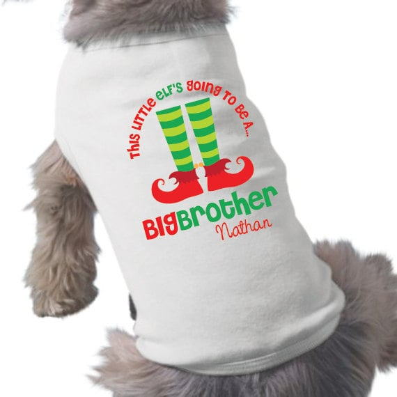 Big Brother Christmas Puppy Shirt
