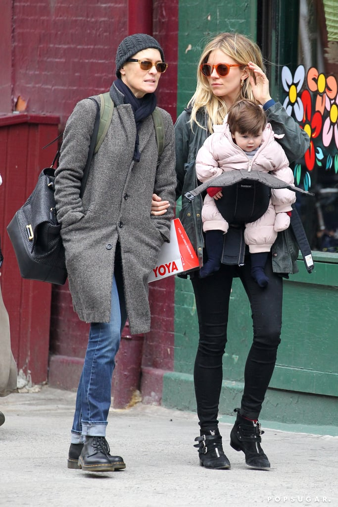 Sienna and Marlowe Bond With Robin Wright Over Their Guys' New Show