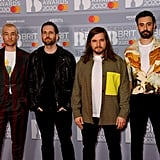 Bastille at the 2020 BRIT Awards in London