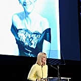 Anna Faris spoke at the Reel Stories, Real Lives event in LA.