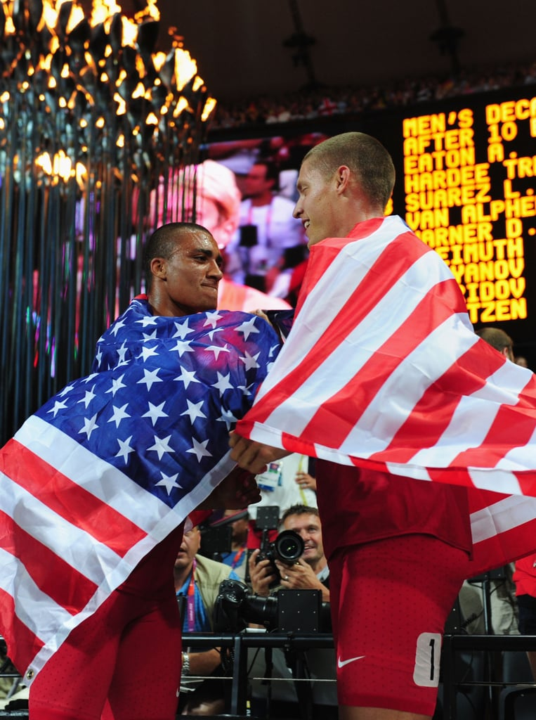 In the end, it was world-record-holder Ashton Eaton who came out ahead in the Olympic decathlon. Fellow American Trey Hardee trailed him by 198 points but still managed to earn himself the silver.