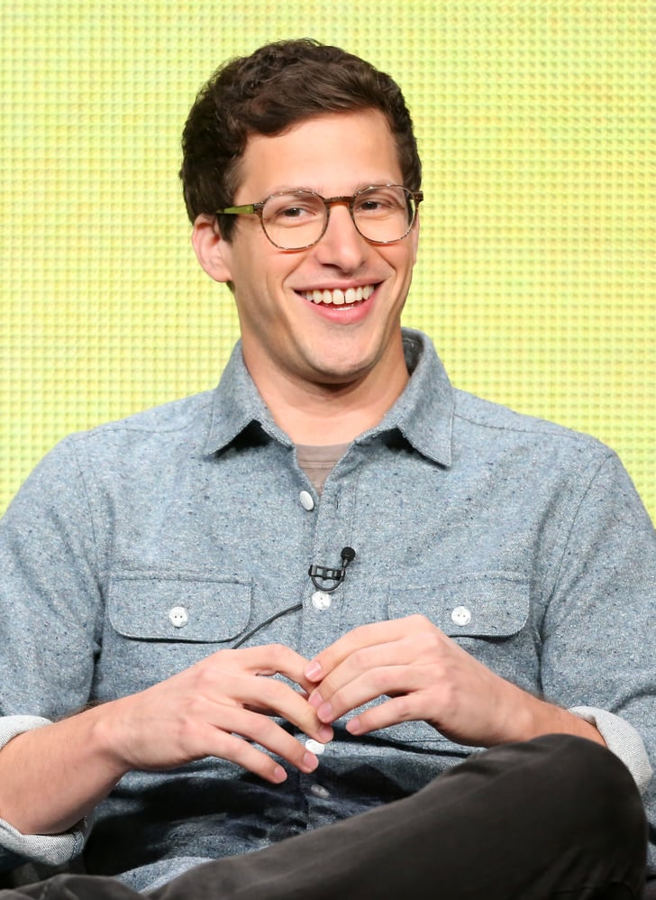 Andy Samberg Cracked A Smile Onstage During A Panel For