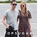 Kate Bosworth and Michael Polish were seen at the airport just after getting married.