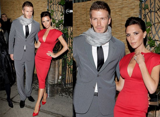 Photos of David Beckham and Victoria Beckham at Milan Fashion Week