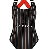 You won't look back when you purchase this striped P.E Nation reversible swimsuit ($145).