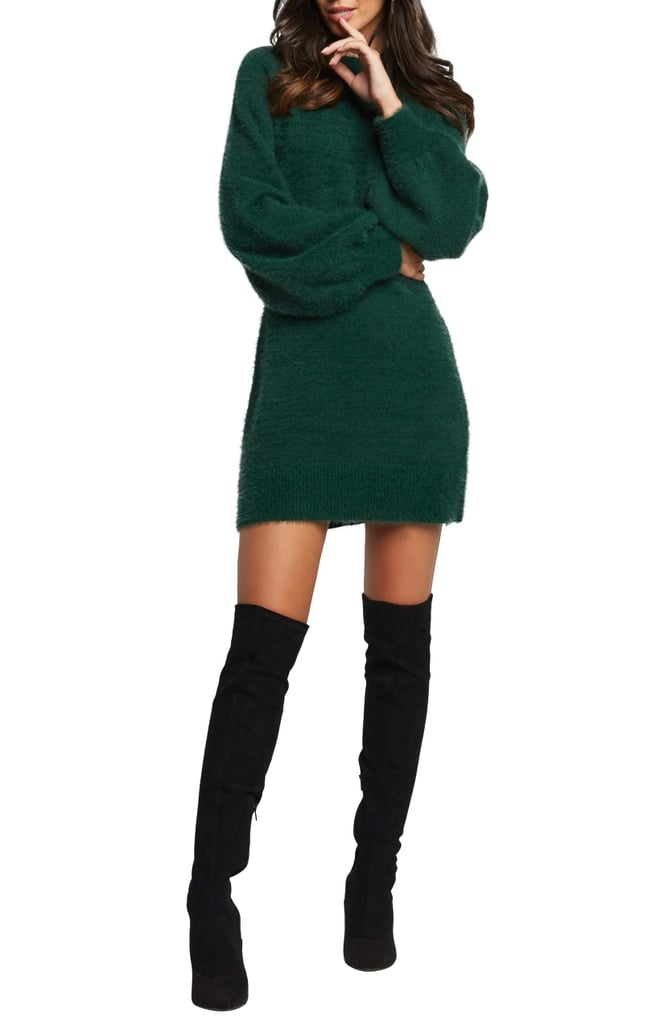 Bardot Long Sleeve Sweater Dress
