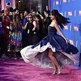 Camila Cabello's Blue Oscar de la Renta Dress at VMAs 2018