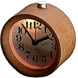 Glomarts Round Wooden Silent Desk Alarm Clock with Nightlight ($13)