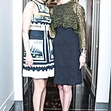 Lizzie Tisch and Amy Fine Collins at Friends of The Costume Institute's evening with Riccardo Tisci in New York. Source: Joe Schildhorn/BFAnyc.com