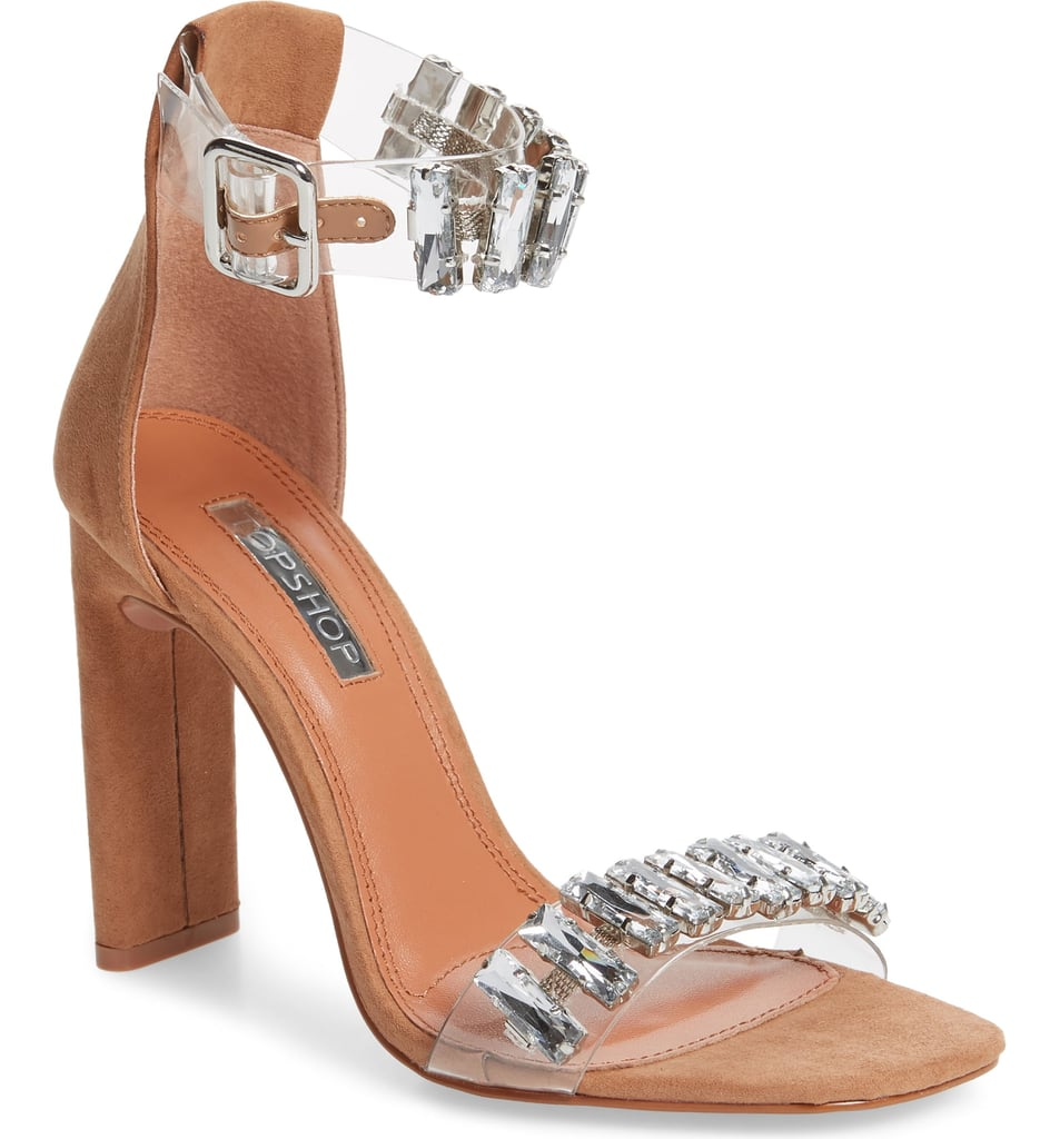0c365d62f40 Topshop Rogue Crystal Embellished Clear Sandal