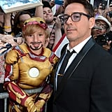 Robert Downey Jr. posed with a young Iron Man fan.