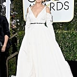 Sarah Jessica Parker in a Vera Wang bridal gown, paired with Fred Leighton jewels and SJP Collection shoes in 2017.