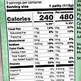 Trader Joe's Turkeyless Protein Patties Nutritional Information