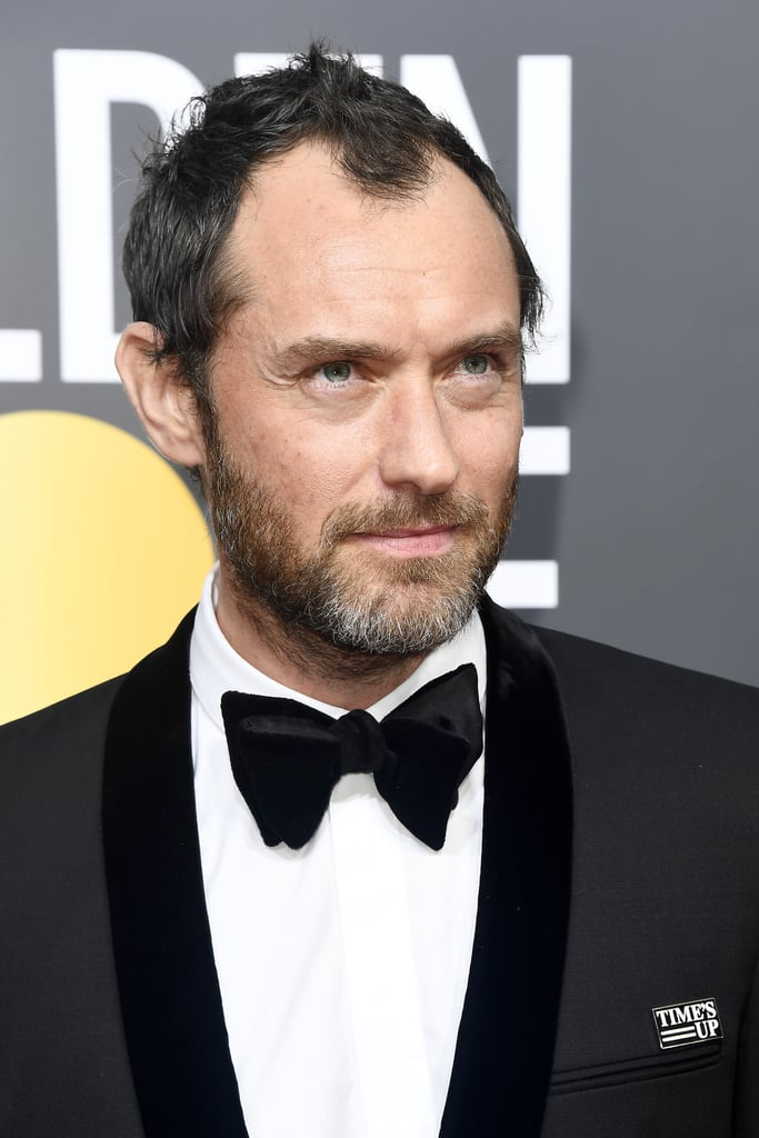 Jude Law | Time's Up Pin at the Golden Globes 2018 ...
