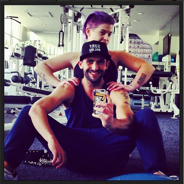 Kelly Osbourne fit in a workout with trainer Fred Khorshidi.