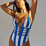 Out From Under Tied Up in Knots Striped One-Piece Swimsuit
