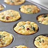 Turkey Sausage, Broccoli, Egg, and Cheddar Bites in a Muffin Tin
