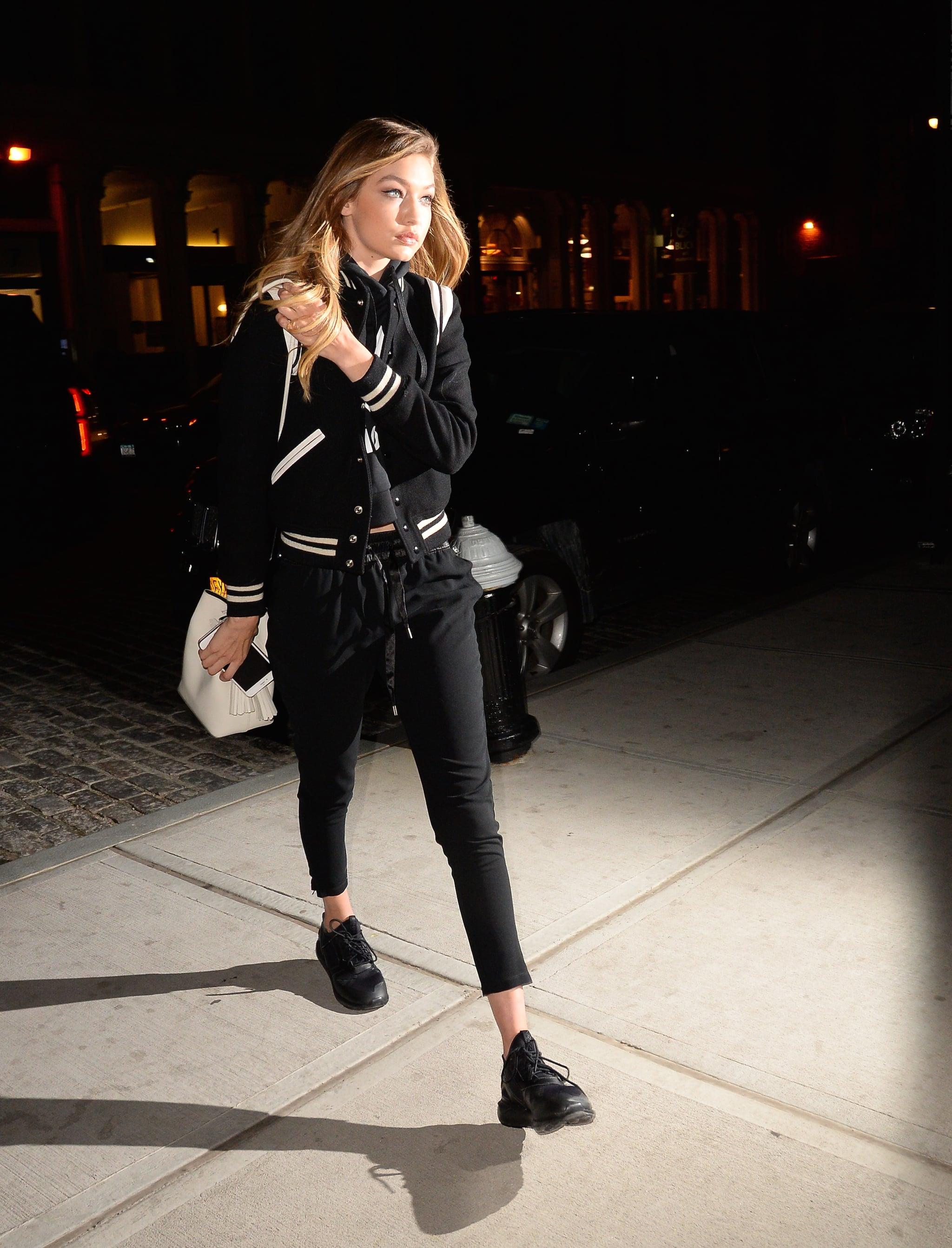 Gigi Hadid Stepped Out Wearing a Sleek Black Pair of