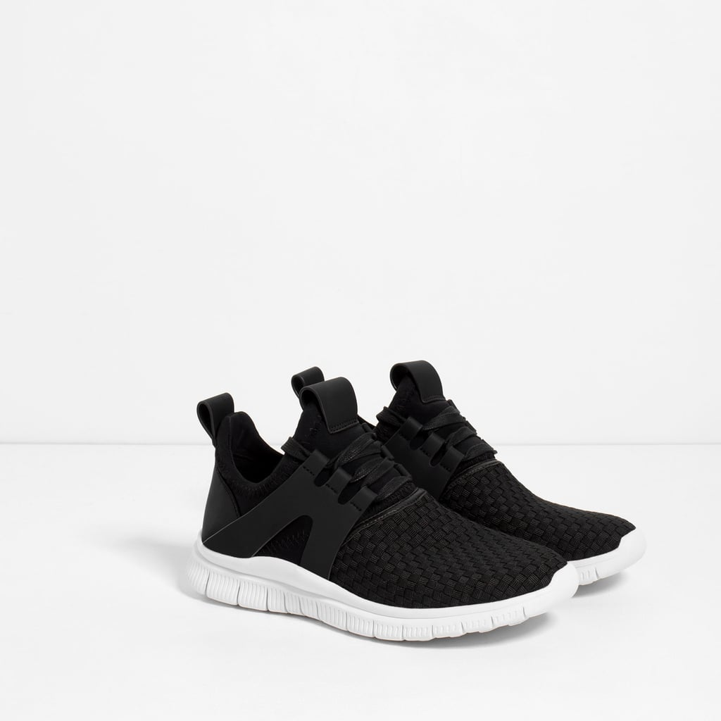 7515c11f9d115 Braided Sneakers ($70) | Zara Launches Activewear Collection Gymwear ...
