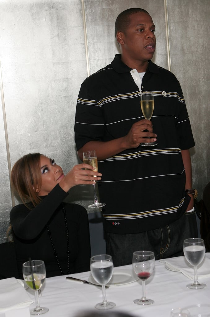 Jay-Z celebrated Rocawear's Fall collection in May 2006 with a toast from Beyoncé.