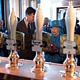 Queen Elizabeth at Waitrose Store in Poundsbury Oct. 2016