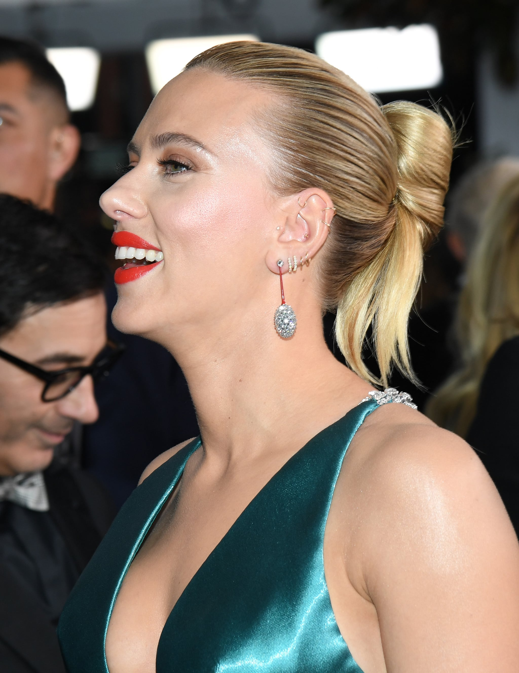 Scarlett Johansson Celebrities With Multiple Ear Piercings Popsugar Beauty Australia Photo 4