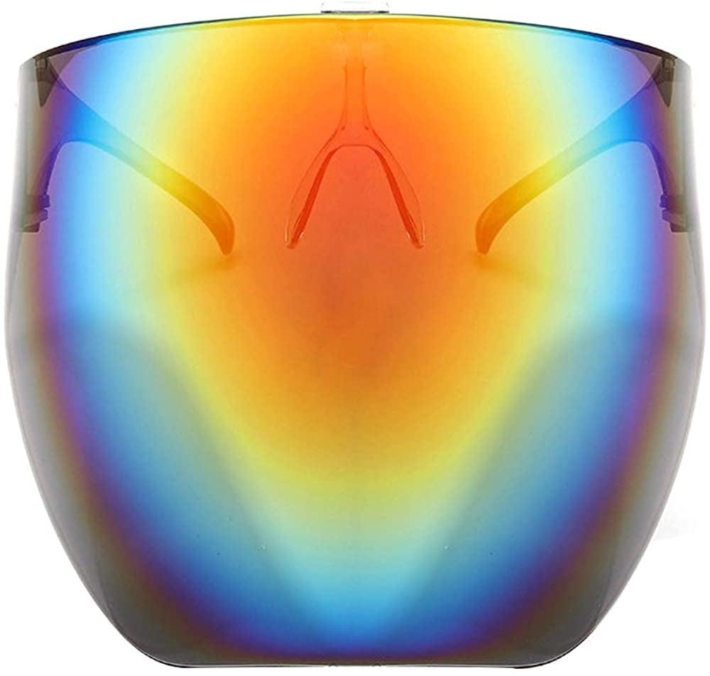 Futuristic Oversized Sun Shield Sunglasses