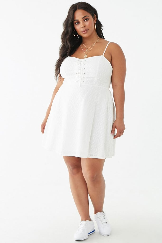 Plus-Size Embroidered Lace-Up Dress | Best Summer Dresses ...