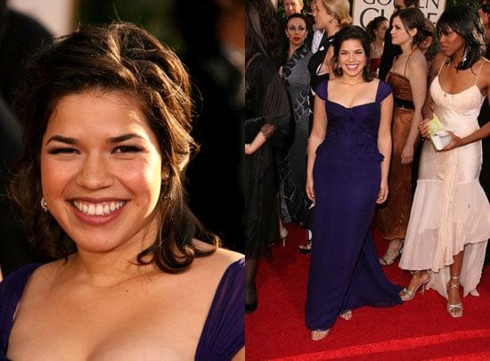 The Golden Globes Red Carpet: America Ferrera