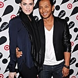 Allison Williams posed with designer Prabal Gurung at the Target and Neiman Marcus Holiday Collection launch party in NYC.
