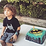 Molly Sims caught Brooks in all of his Batman glory at his third birthday party.