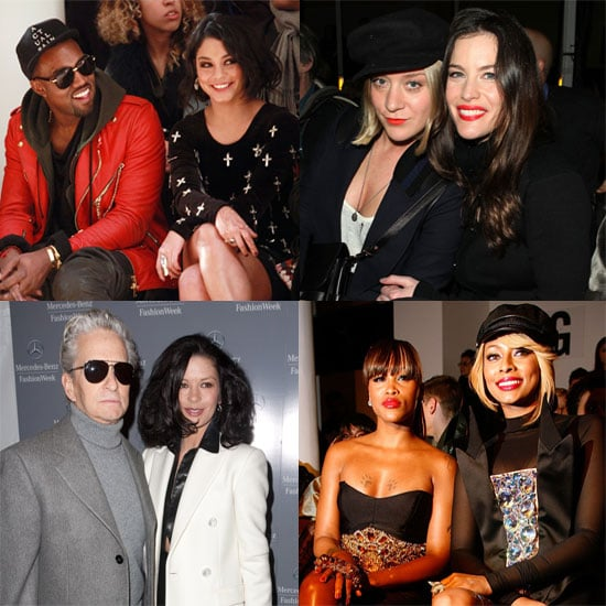 Pictures of Celebrities at New York Fashion Week Fall 2011 Vanessa Hudgens with Kanye West, Liv Tyler, Chloe Sevigny