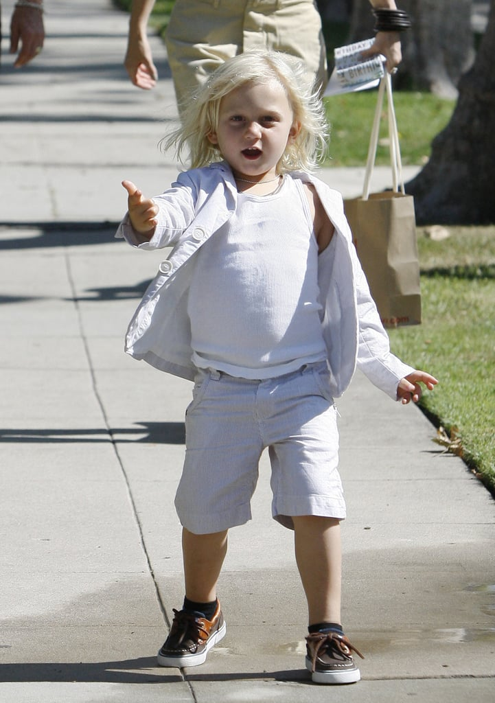 Zuma Rossdale was excited to celebrate Father's Day.