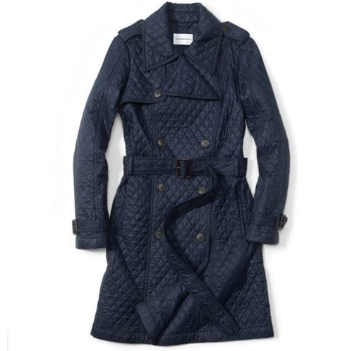 Quilted for an extra-warm and chic look.  Club Monaco Jenna Quilted Trench ($298)
