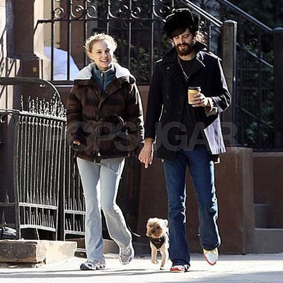 Devendra Banhart and Natalie Portman Walk Her Dog