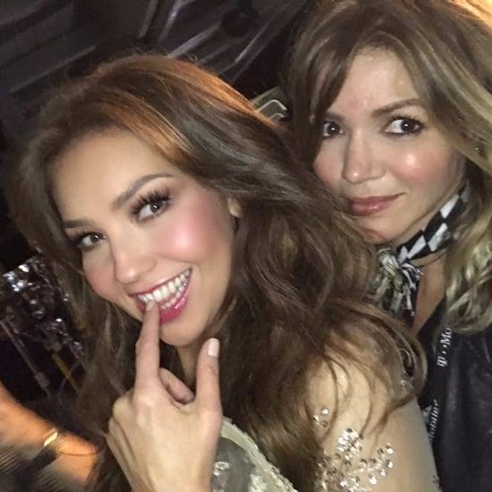 Thalia's Makeup at Premio Lo Nuestro 2017