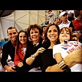 The Phelps family cheered Michael on to victory from the stands. Source: Instagram user dougeldridge