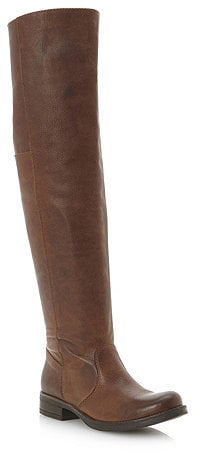 Bertie Talos tan leather over-the-knee boots (£159)