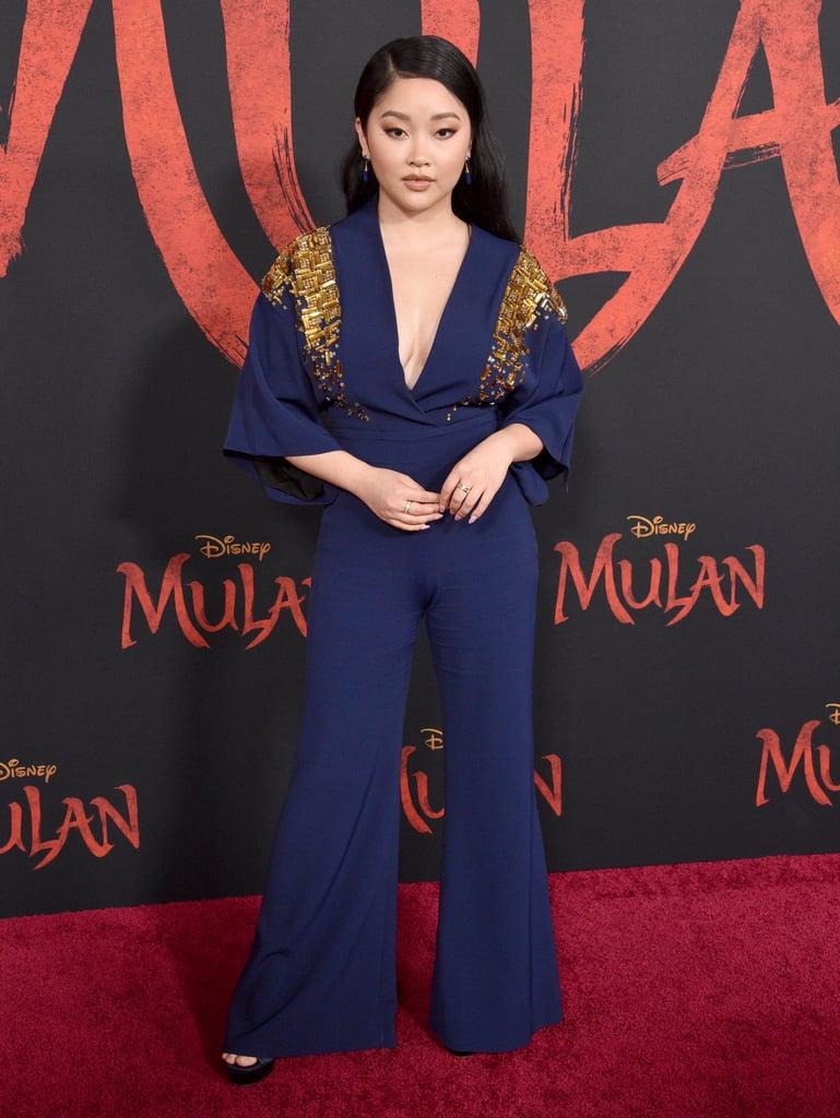 Lana Condor at the World Premiere of Mulan in LA