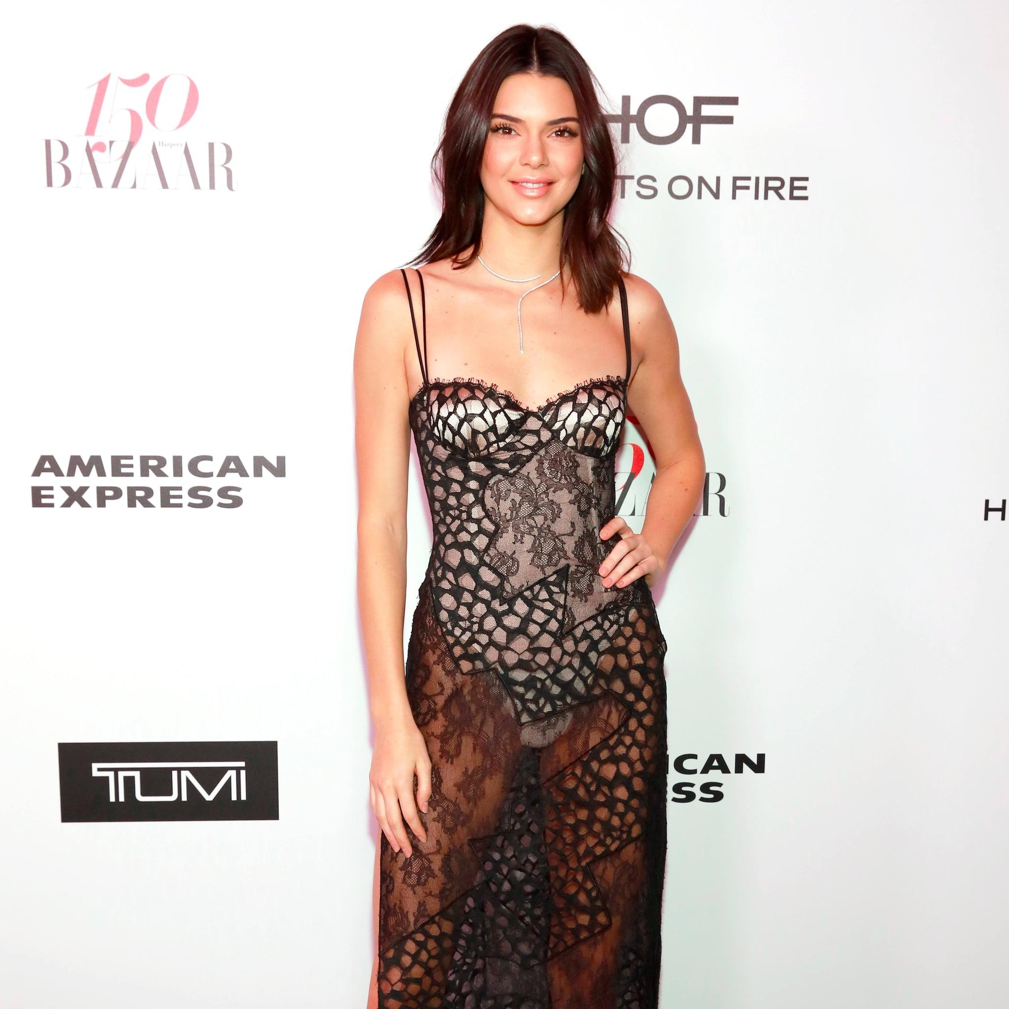 Kendall Jenner\'s La Perla Dress Jan. 2017   POPSUGAR Fashion
