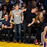 Zac Efron and Halston Sage at LA Lakers Game | Pictures