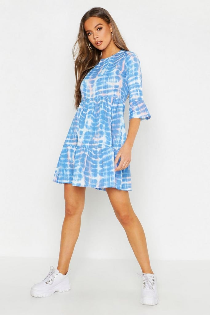 Boohoo Tie-Dye Smock Dress