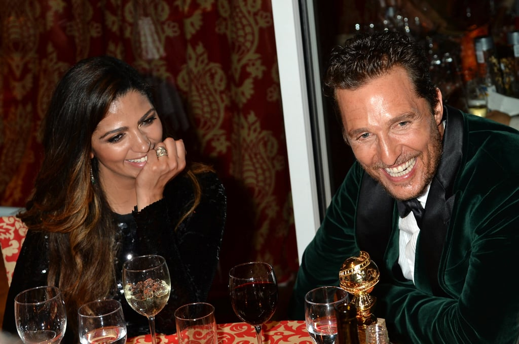 The couple laughed at a Golden Globes party in 2014.